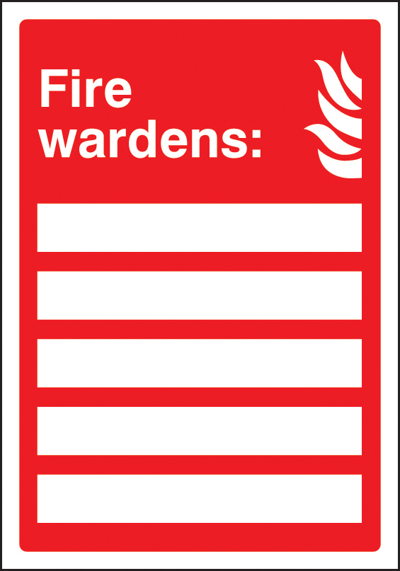 11035e Fire Wardens Space For 5 People Rigid Plastic