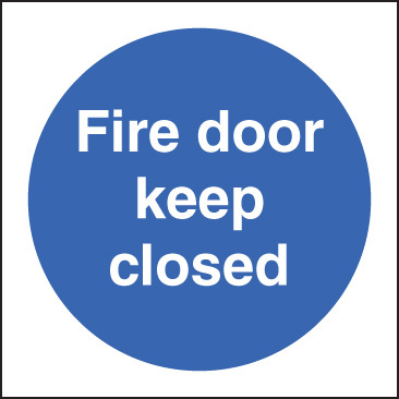11616B Fire door keep closed Rigid Plastic (80x80mm) Safety Sign