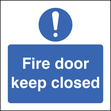 11628B Fire door keep closed Rigid Plastic (80x80mm) Safety Sign