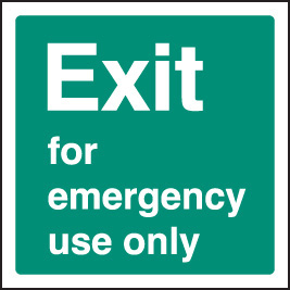 12042F Exit emergency use Rigid Plastic (200x200mm) Safety Sign
