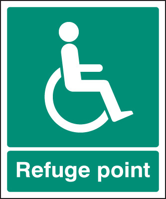 12095E Refuge point Rigid Plastic (200x150mm) Safety Sign