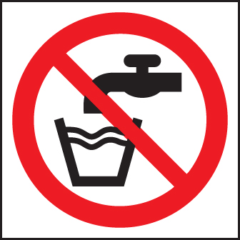 13604F Not drinking water (symbol) Rigid Plastic (200x200mm) Safety Sign