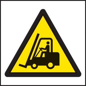 14222F Forklift symbol Rigid Plastic (200x200mm) Safety Sign