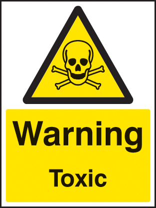 14413E Toxic Rigid Plastic (200x150mm) Safety Sign