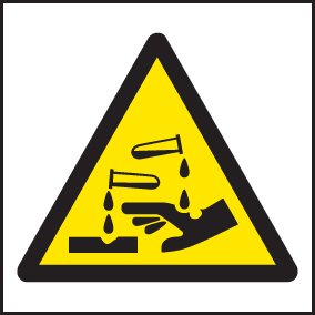 14419F Corrosive symbol Rigid Plastic (200x200mm) Safety Sign
