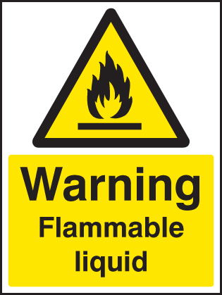 14420K Flammable liquid Rigid Plastic (400x300mm) Safety Sign