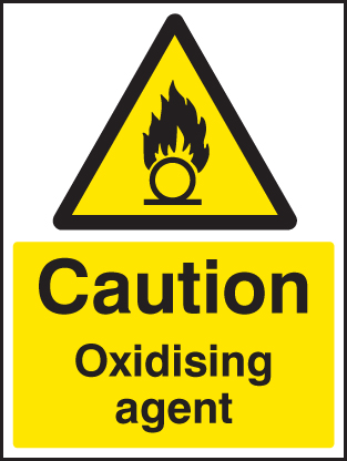 14424E Oxidising agent Rigid Plastic (200x150mm) Safety Sign