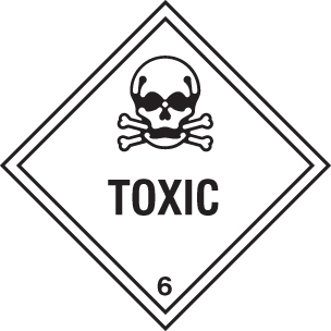 14476F Toxic Rigid Plastic (200x200mm) Safety Sign