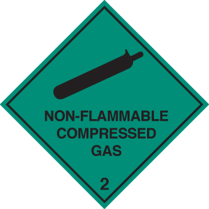 14506U Non-flammable compressed gas 2 Rigid Plastic (100x100mm) Safety Sign