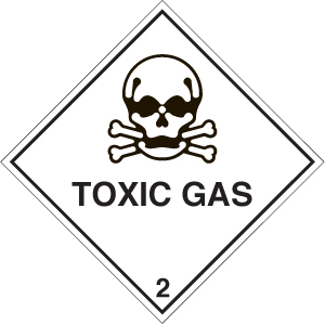 14508F Toxic gas diamond Rigid Plastic (200x200mm) Safety Sign
