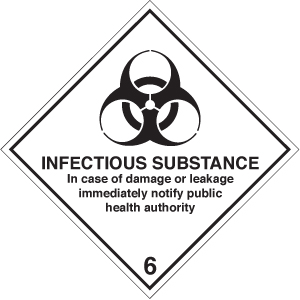 14509F Infectious substance diamond Rigid Plastic (200x200mm) Safety Sign