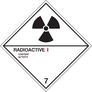 14510F Radioactive I diamond Rigid Plastic (200x200mm) Safety Sign