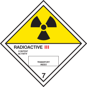 14511F Radioactive III diamond Rigid Plastic (200x200mm) Safety Sign