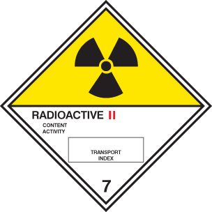 14512F Radioactive II diamond Rigid Plastic (200x200mm) Safety Sign