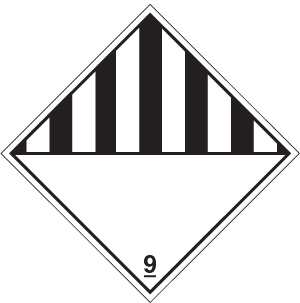 14513F Black / white diamond Rigid Plastic (200x200mm) Safety Sign