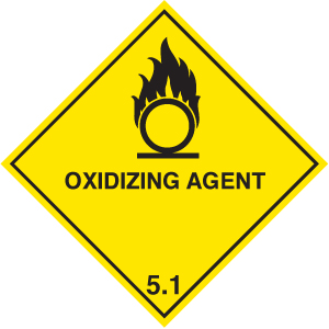 14515F Oxidising agent diamond Rigid Plastic (200x200mm) Safety Sign