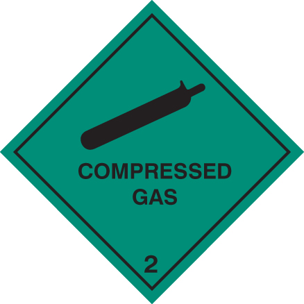 14516F Compressed gas 2 Rigid Plastic (200x200mm) Safety Sign