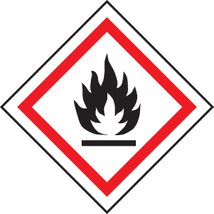 14541U GHS Label - Flammable Rigid Plastic (100x100mm) Safety Sign