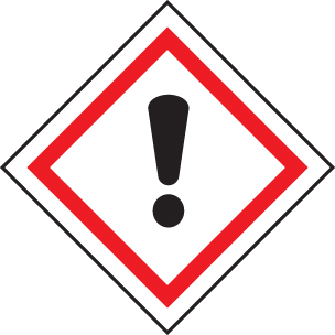 14548U GHS Label - Irritant Rigid Plastic (100x100mm) Safety Sign