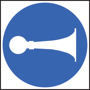 15410F Sound horn symbol Rigid Plastic (200x200mm) Safety Sign