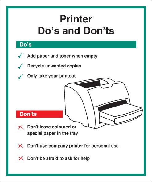 15630H Printer - Do s & Don ts Rigid Plastic 300x250mm ...