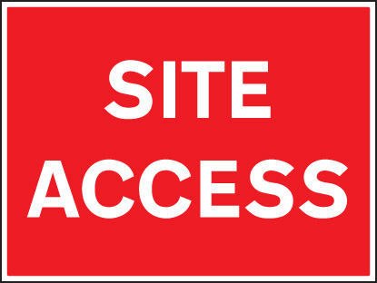 16437Q Site access Rigid Plastic (600x450mm) Safety Sign