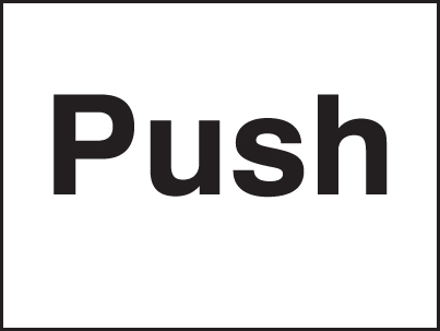 17028A Push Rigid Plastic (100x75mm) Safety Sign