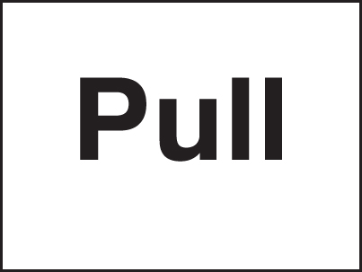17029A Pull Rigid Plastic (100x75mm) Safety Sign