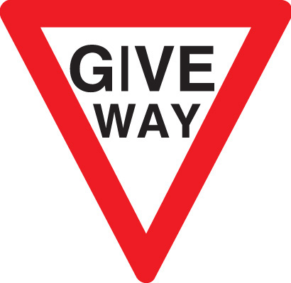 17505N Give way Rigid Plastic (400x400mm) Safety Sign