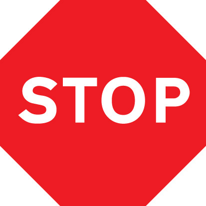17507N Stop Rigid Plastic (400x400mm) Safety Sign