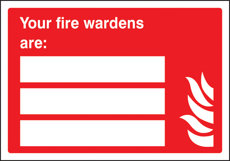 21037e Your Fire Wardens Are Self Adhesive Vinyl 200x150mm