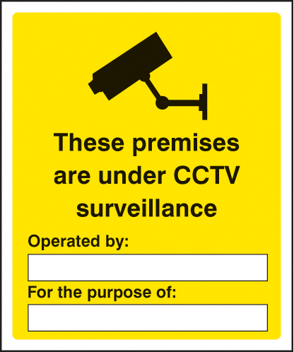 21700K These premises are under CCTV surveillance Self Adhesive Vinyl (400x300mm) Safety Sign