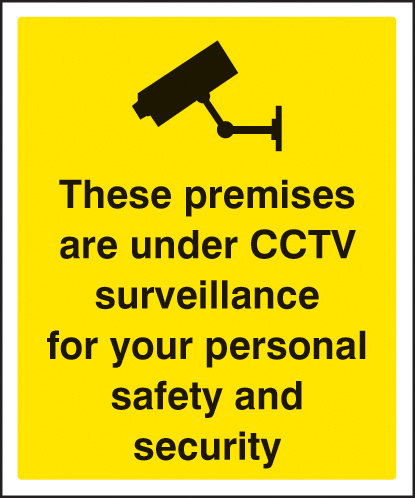 21711H These premises are under CCTV surveillance for your Self Adhesive Vinyl (300x250mm)