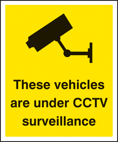 21739H These vehicles are under CCTV surveillance Self Adhesive Vinyl (300x250mm) Safety Sign