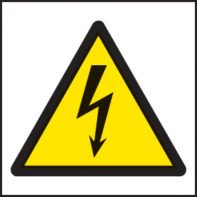 24218F Electricity symbol Self Adhesive Vinyl (200x200mm) Safety Sign
