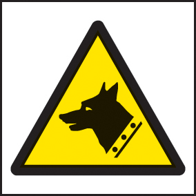 24220F Guard dog symbol Self Adhesive Vinyl (200x200mm) Safety Sign
