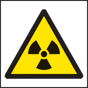 24256F Radiation symbol Self Adhesive Vinyl (200x200mm) Safety Sign