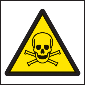 24416F Poison symbol Self Adhesive Vinyl (200x200mm) Safety Sign