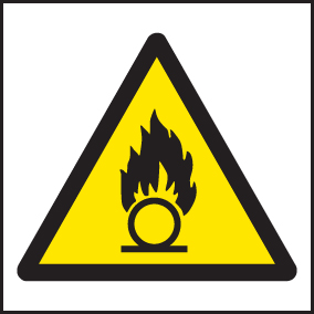 24417F Oxidising agent symbol Self Adhesive Vinyl (200x200mm) Safety Sign