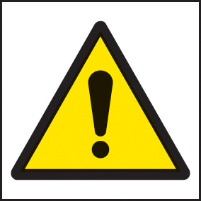 24418F Danger symbol Self Adhesive Vinyl (200x200mm) Safety Sign