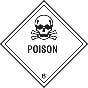 24438F Poison Self Adhesive Vinyl (200x200mm) Safety Sign