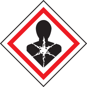 24546U Health Hazard GHS label Self Adhesive Vinyl (100x100mm) Safety Sign
