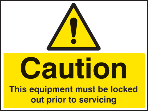 26240A Caution This equipment must be locked out prior to servicing Self Adhesive Vinyl (100x75mm)