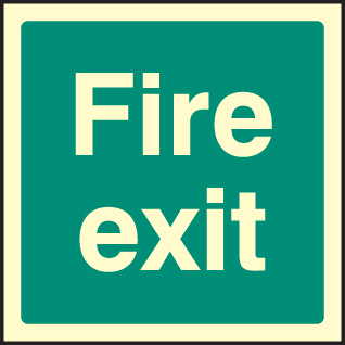 32041F Fire exit Photoluminescent Rigid (200x200mm) Safety Sign