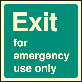 32042F Fire emergency use Photoluminescent Rigid (200x200mm) Safety Sign