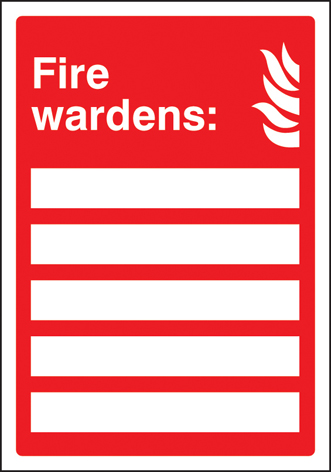 51035 Your fire wardens are (space for 5) adapt-a-sign 215x310mm  (215 x 310mm) Safety Sign