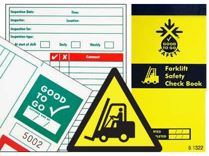 51302 Good to go safety forklift check book  (H210xW100xD5mm) Safety Sign