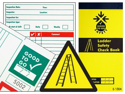 51304 Good to go safety ladders check book  (H210xW100xD5mm) Safety Sign