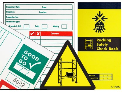 51305 Good to go safety racking check book  (H210xW100xD5mm) Safety Sign