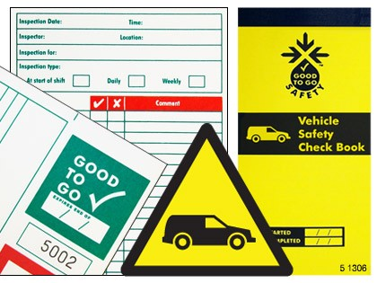 51306 Good to go fleet vehicle safety check book  (H210xW100xD5mm) Safety Sign